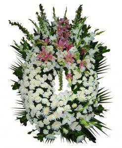 Corona de Flores Buena Suerte