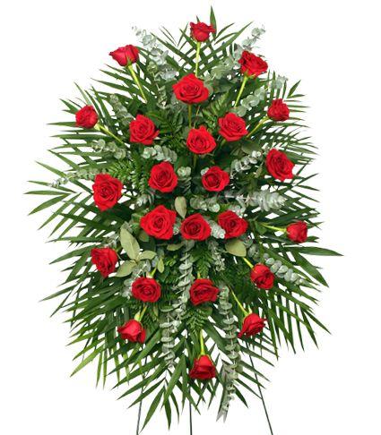 enviar corona funeraria rosas rojas